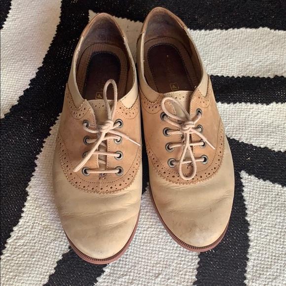 Top Sider Tan Leather Saddle Shoe